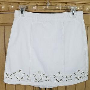 PacSun White Denim Skirt, sz 26/small